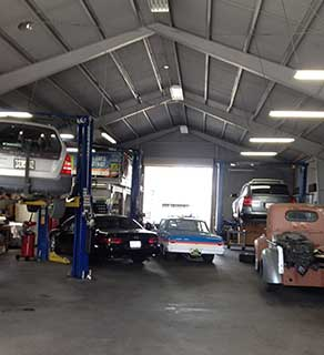 Inside JCW Auto Repair Service Garage