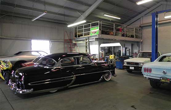 inside JCW Auto Repair Service's Garage