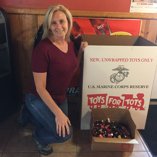 Holiday toys for tots donations at JCW Auto Repair Service